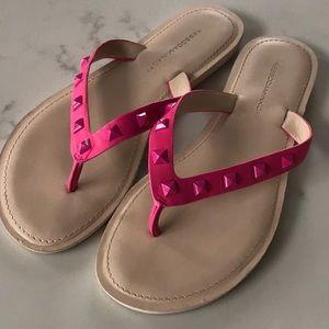 Rebecca Minkoff hit pink flip flops